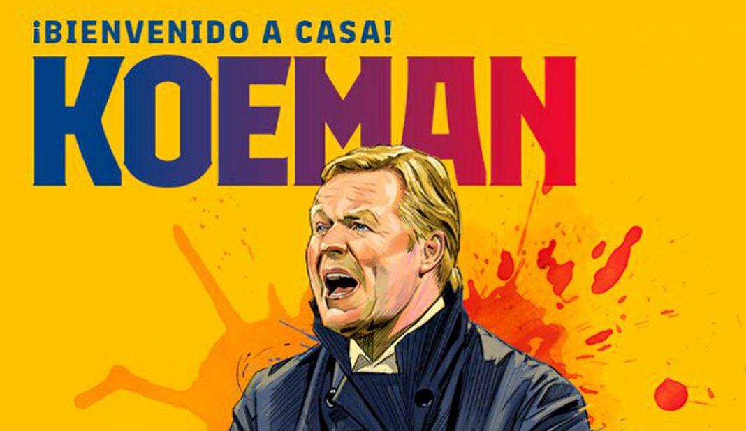 Barcelona anuncia a Koeman como nuevo entrenador