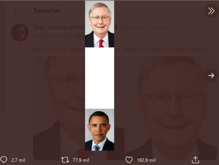 Algoritmo de Twitter da prioridad a rostros blancos e ignora los negros.