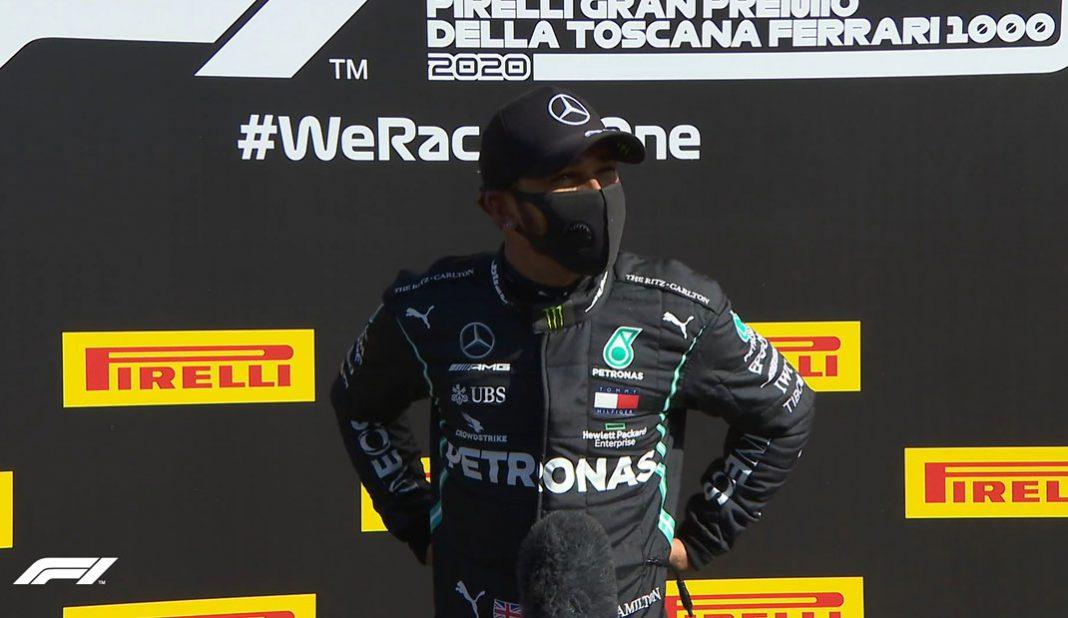 Hamilton le quita la pole a Valtteri en Toscana