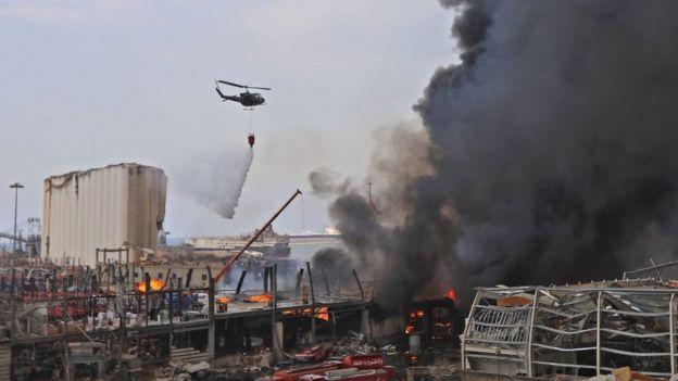 Incendio en Beirut a 5 semanas de la explosión que mató a 200 personas
