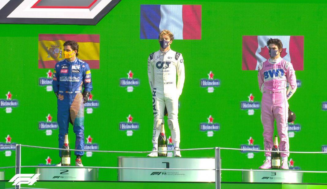 Pierre Gasly sorprende y gana en el GP de Italia de F1