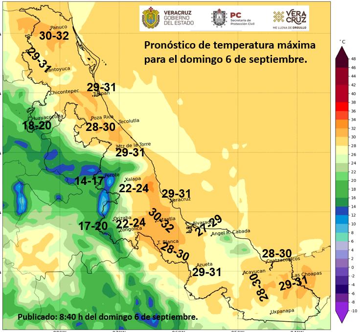 Clima en Veracruz presentará viento del norte