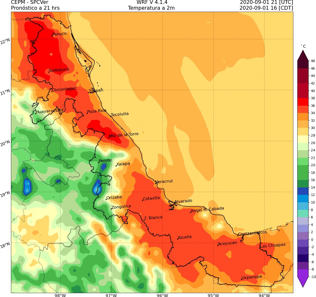 Surada en Veracruz y pronóstico de lluvia