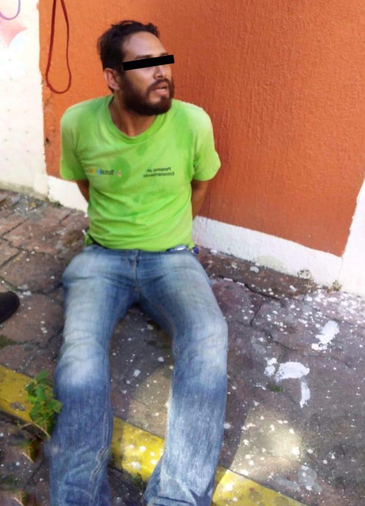 Lo detienen por robarle celular a una mujer en el centro de Veracruz