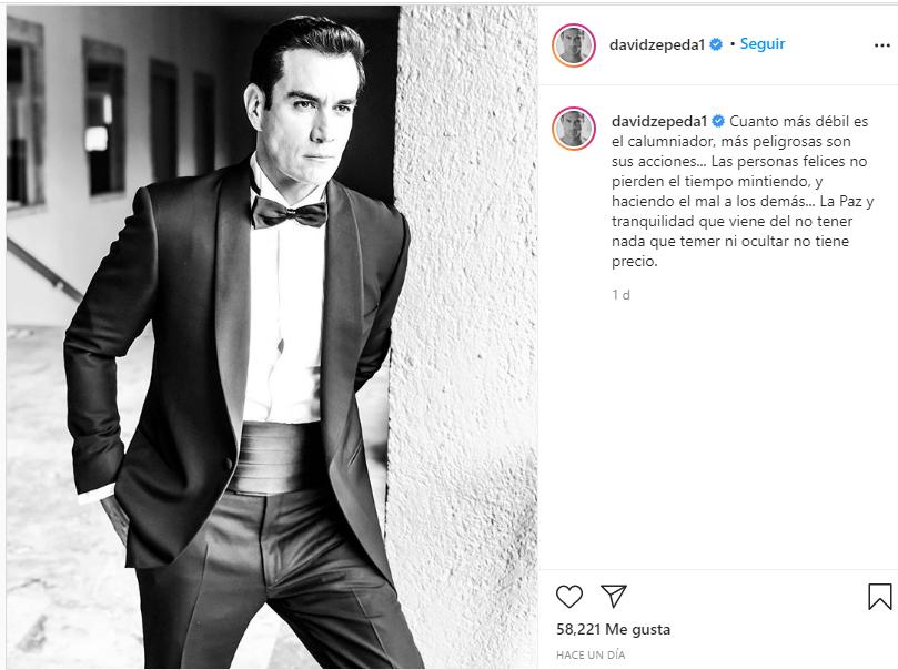 David Zepeda habla sobre supuesto romance con Daniel Urquiza