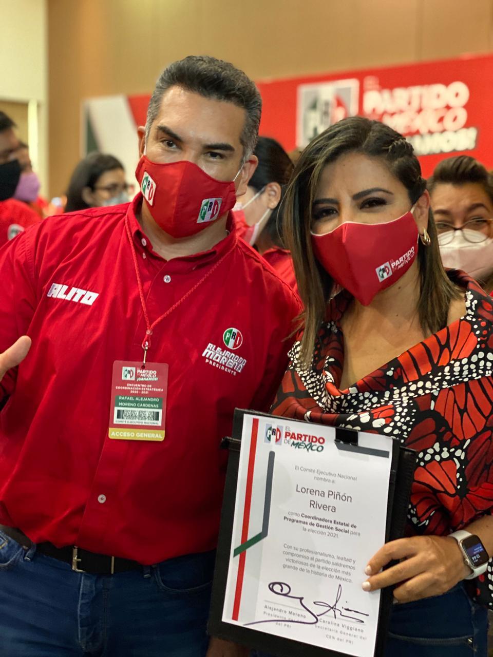 Lorena Piñón asume coordinación de programas de gestión social