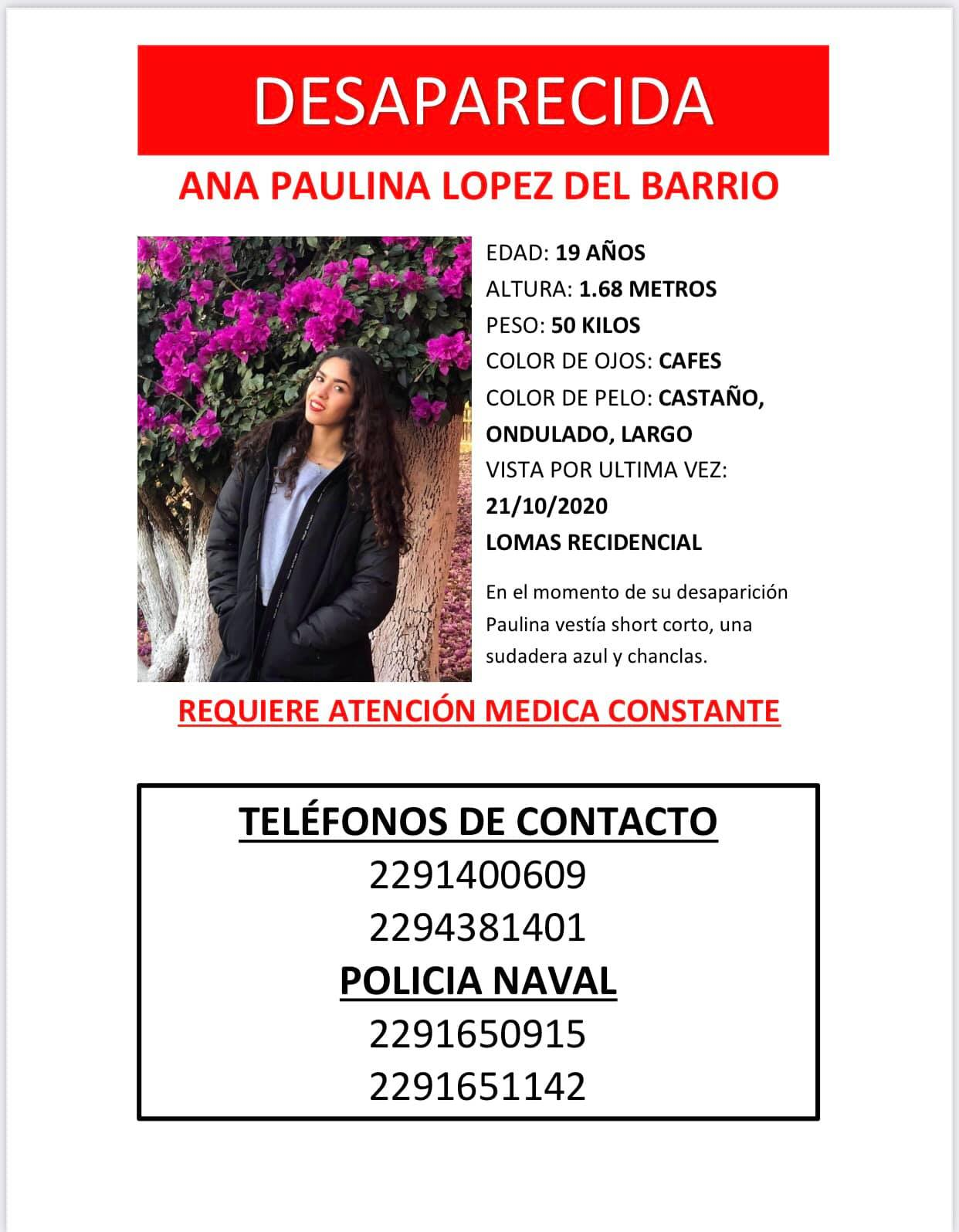 Ana Paulina, la joven reportada como desaparecida asegura estar bien.
