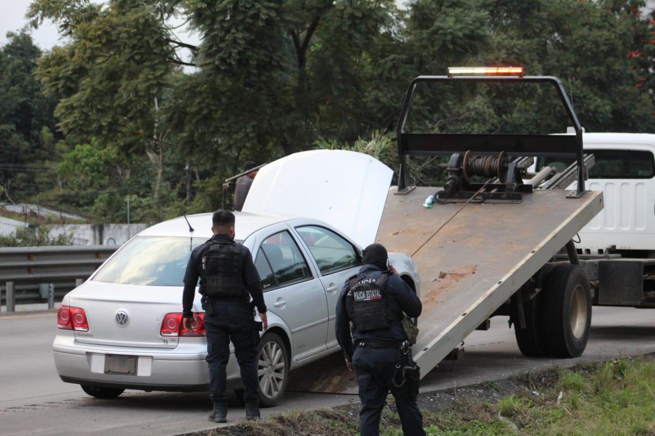 Persecución policíaca en la autopista a Orizaba.