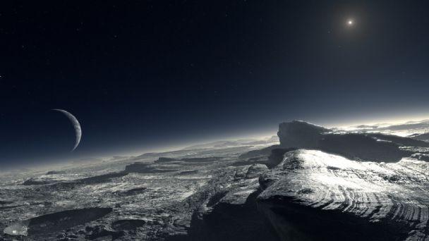 Hallan posible explicación a las montañas nevadas de Plutón.