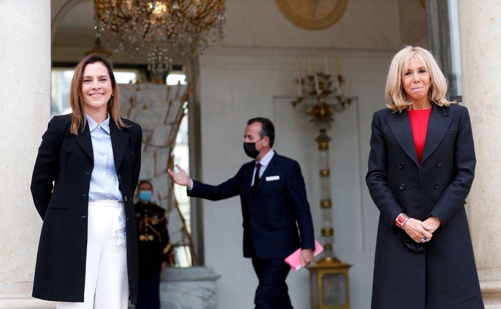 Beatriz Gutiérrez Müller se reúne con la Primera Dama de Francia