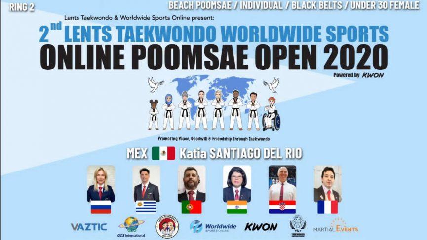 Gana Katia Santiago del Río el World Wide Sports Poomsae.