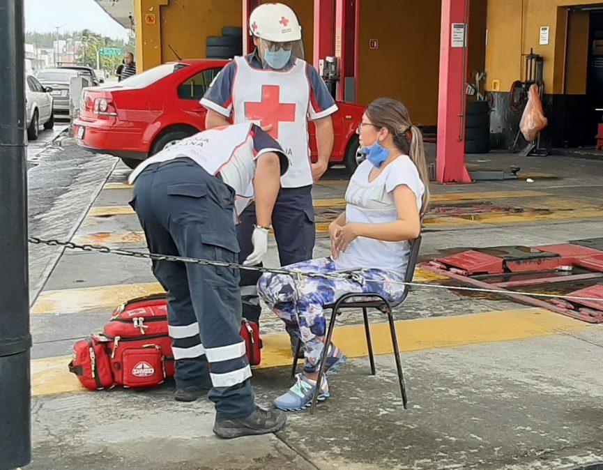 Accidente vial en Rafael Cuervo deja 1 persona herida.