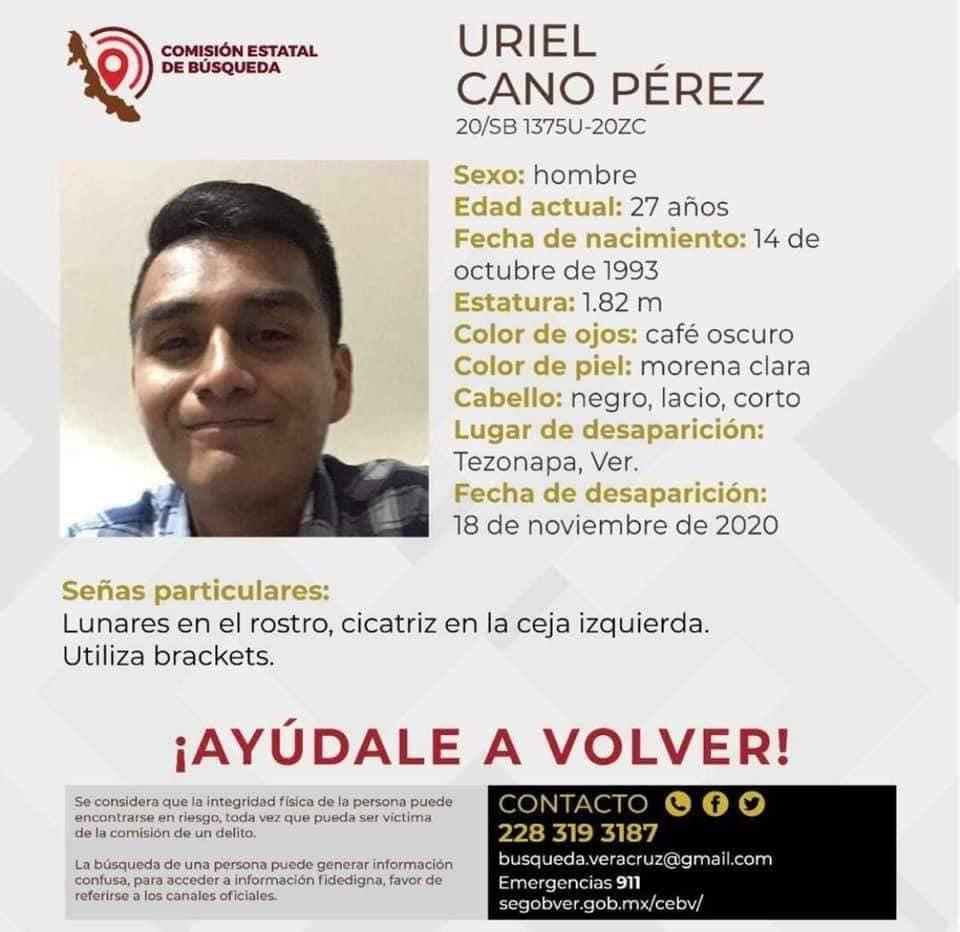 Joven de Tezonapa es reportado como desaparecido.