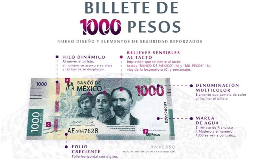 Conoce los nuevos billetes de mil pesos mexicanos.