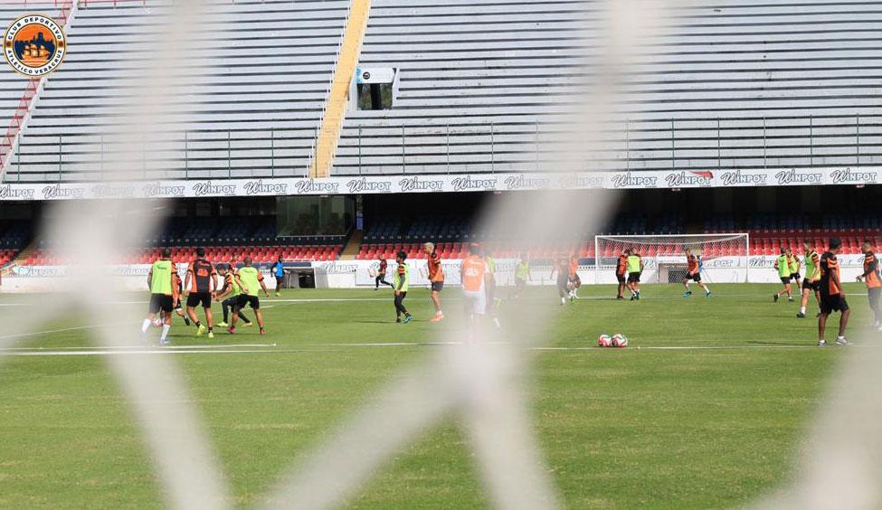 Atlético Veracruz enfocado en su encuentro ante Los Cabos