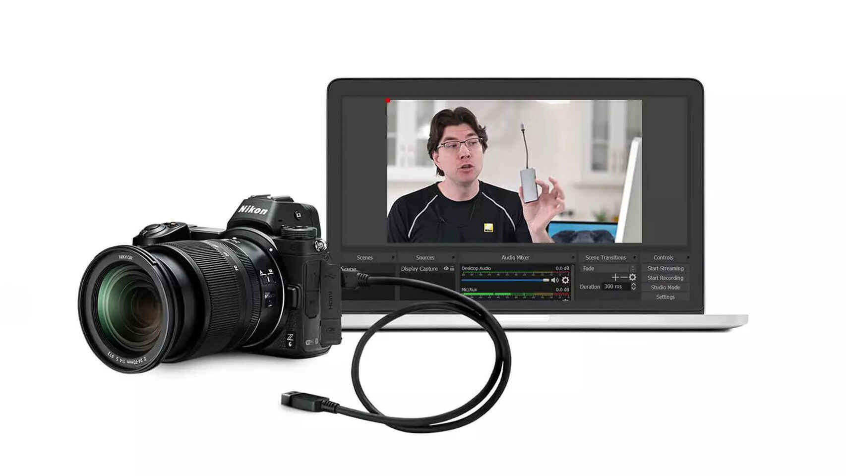 App de Nikon permitirá que las cámaras sirvan como webcam.
