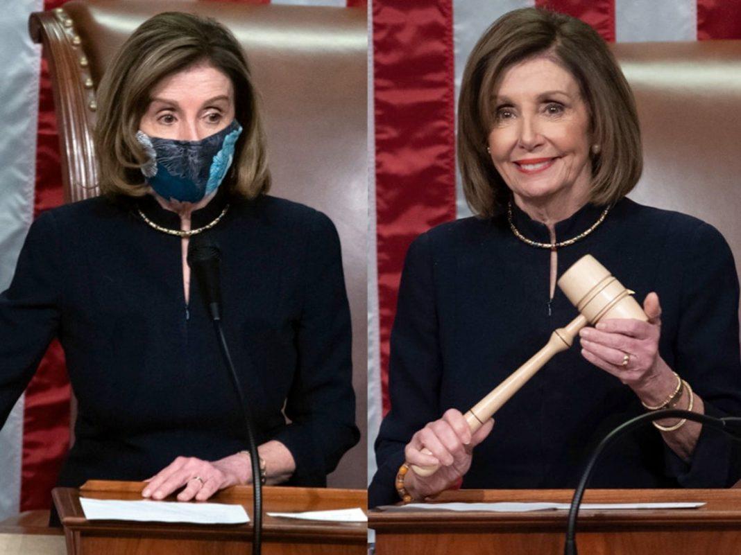 """Repitió Nancy Pelosi """"outfit"""" de 2019 cuando votó primer juicio político contra Trump"""
