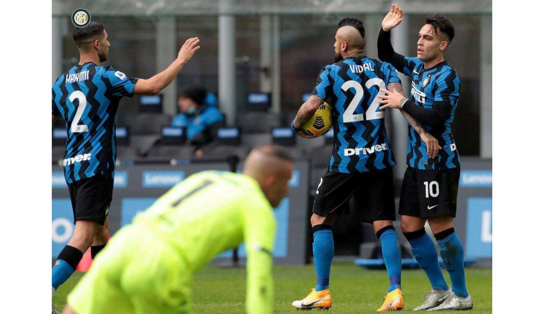 Triplete de Laurato en goleada del Inter al Crotone