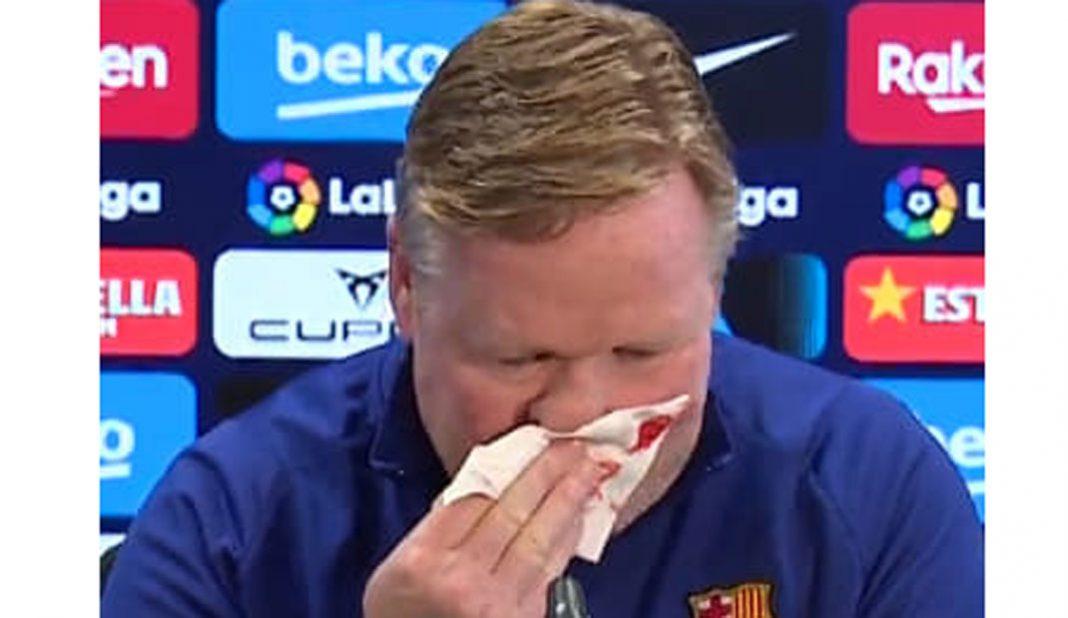 Koeman sufre sangrado en la nariz en conferencia de prensa