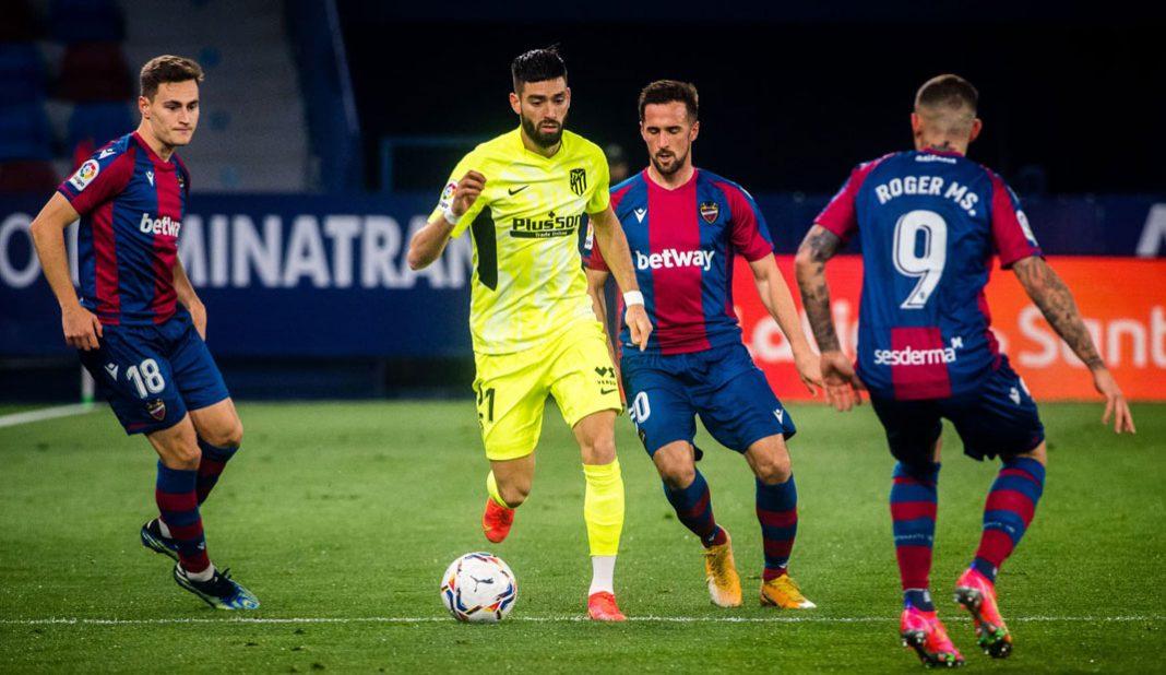 Atlético de Madrid empata en casa del Levante