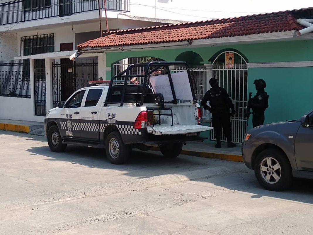 Sujetos armados rafaguearon una casa cenca de mercado en Papantla