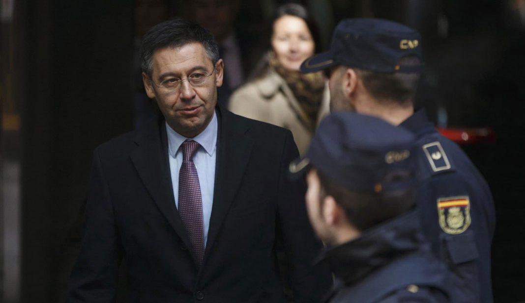 Bartomeu detenido por la policía catalana por el Barçagate. Mossos d'Esquadra ingresaron a las oficinas del Camp Nou