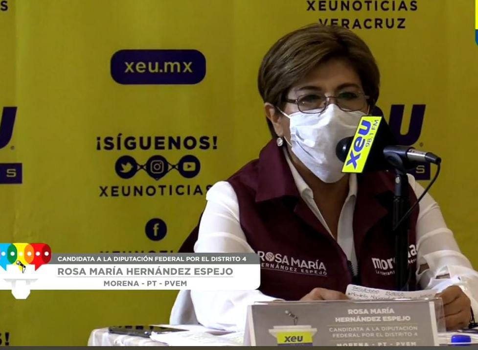 El debate, indispensable, mi victoria es en las urnas: Rosa Hernández Espejo