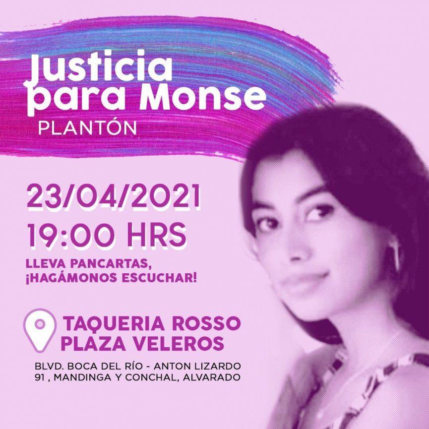 "Convocan a nuevo plantón ""Justicia para Monse"" en Plaza Veleros"