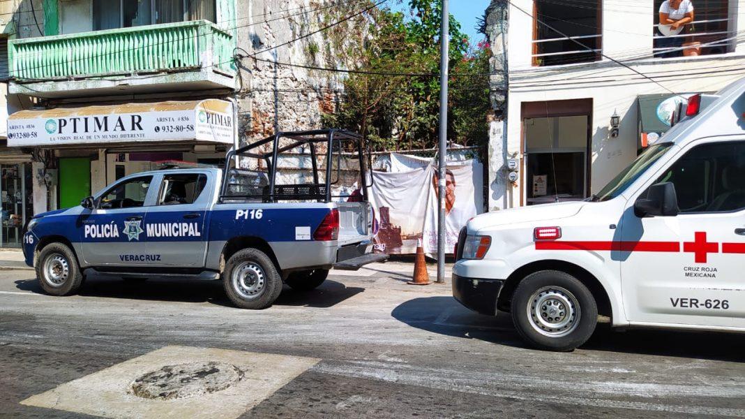 Encuentran a hombre sin vida en el Centro Histórico de Veracruz