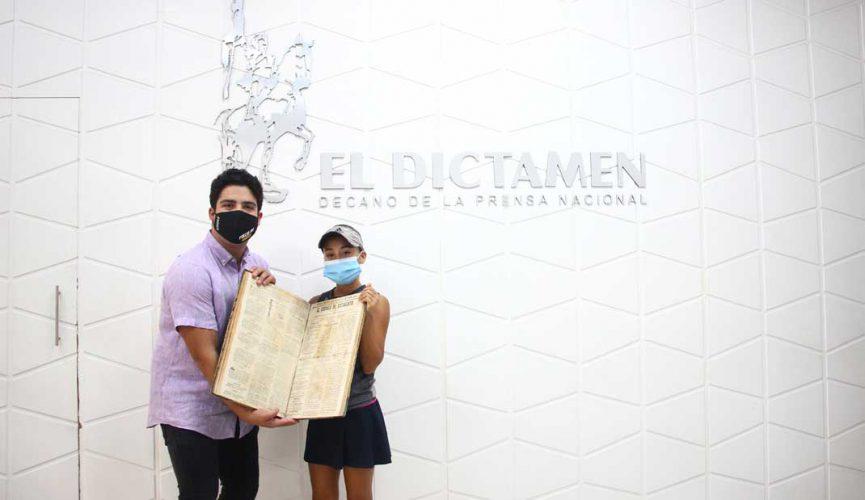 Romina Domínguez visita El Dictamen
