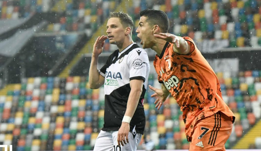 Cristiano anota doblete y Juventus gana en Udinese.