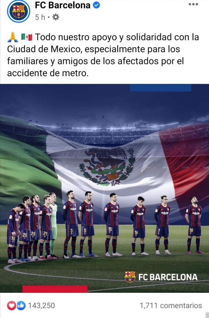 El mundo del deporte se une con las víctimas de la Línea 12 del Metro de la Ciudad de México