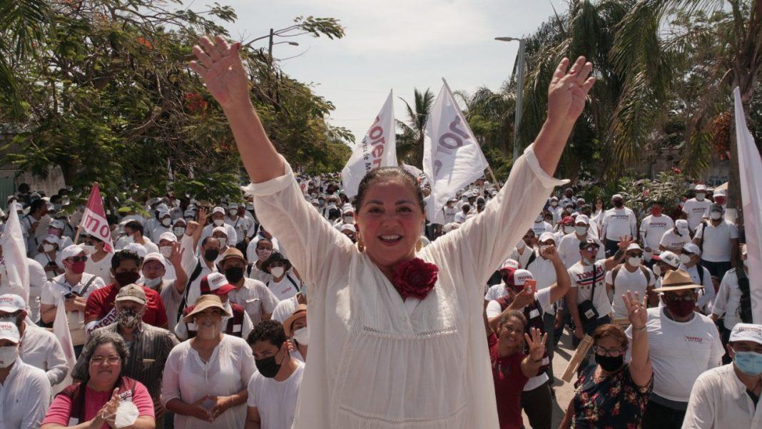 """""""Nena"""" de la Reguera realiza mega marcha en Boca con más de 5 mil personas"""