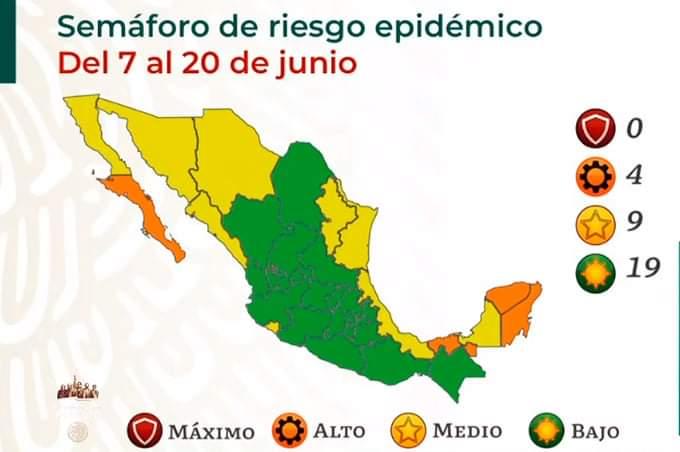 Veracruz retrocede en el semáforo por covid-19 y pasa a color amarillo