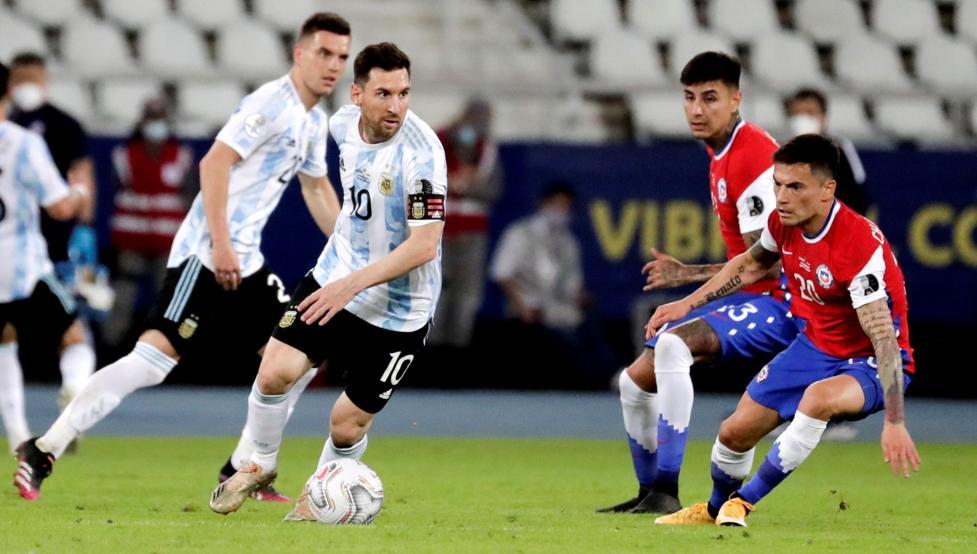 Argentina y Chile firman un empate entretenido