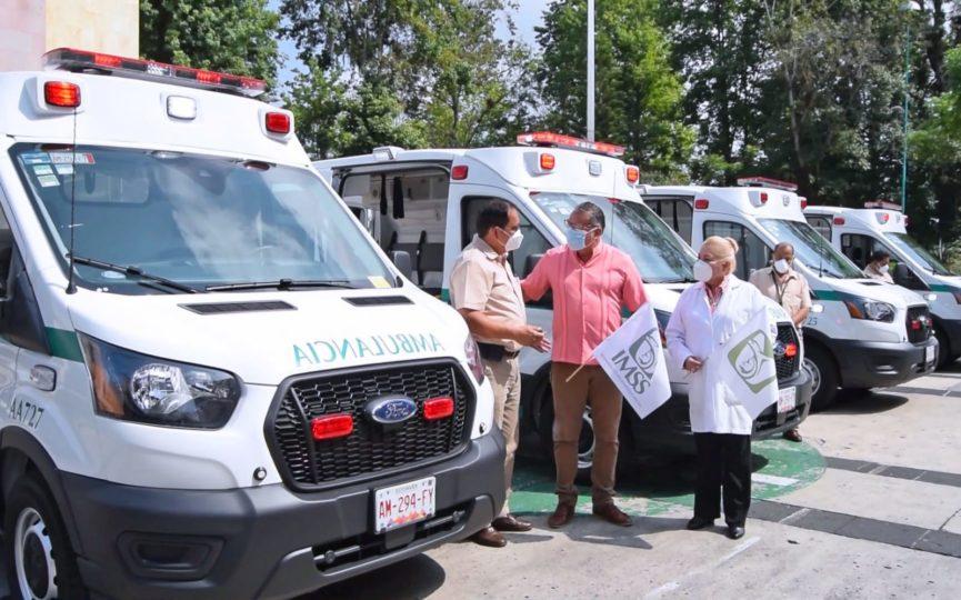 En la zona Xalapa se entregaron cuatro ambulancias al Hospital General de Zona (HGZ) No 11