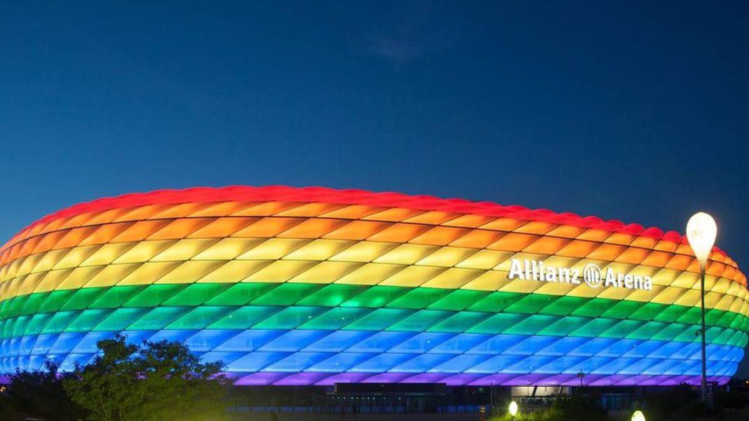 UEFA niega iluminar el Allianz Arena con los colores de la Bandera del Arcoíris