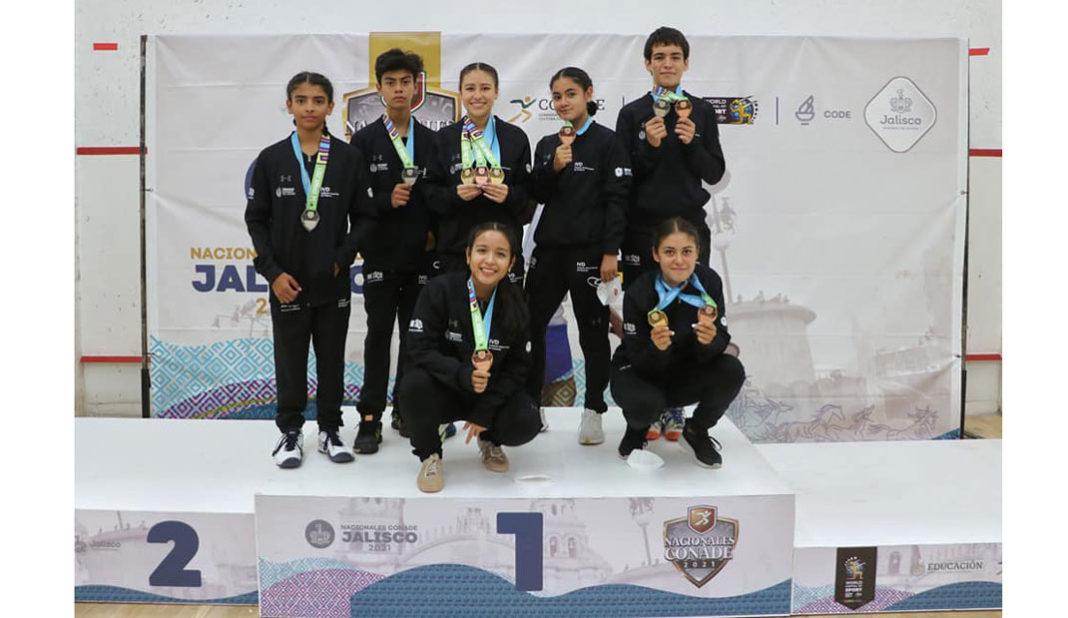 Cierre dorado del squash de Veracruz en Juegos Nacionales