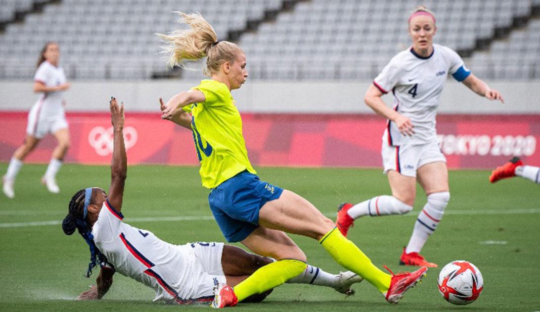 Suecia golea a Estados Unidos en su presentación en Tokyo