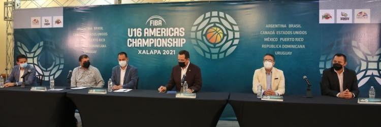 Presentan el Premundial Sub-16 de basquetbol en Xalapa; dará inicio el próximo 23 de agosto