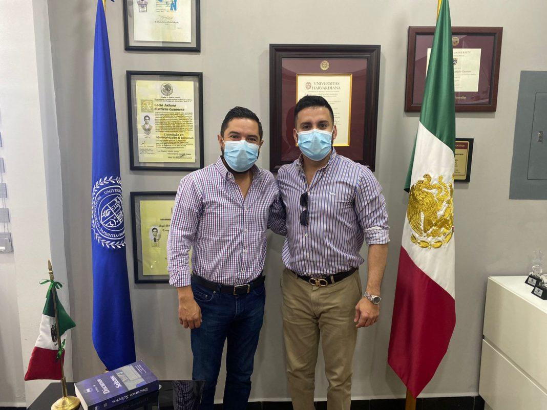 Jaime de la Garza se reúne con director de la Universidad de las Naciones