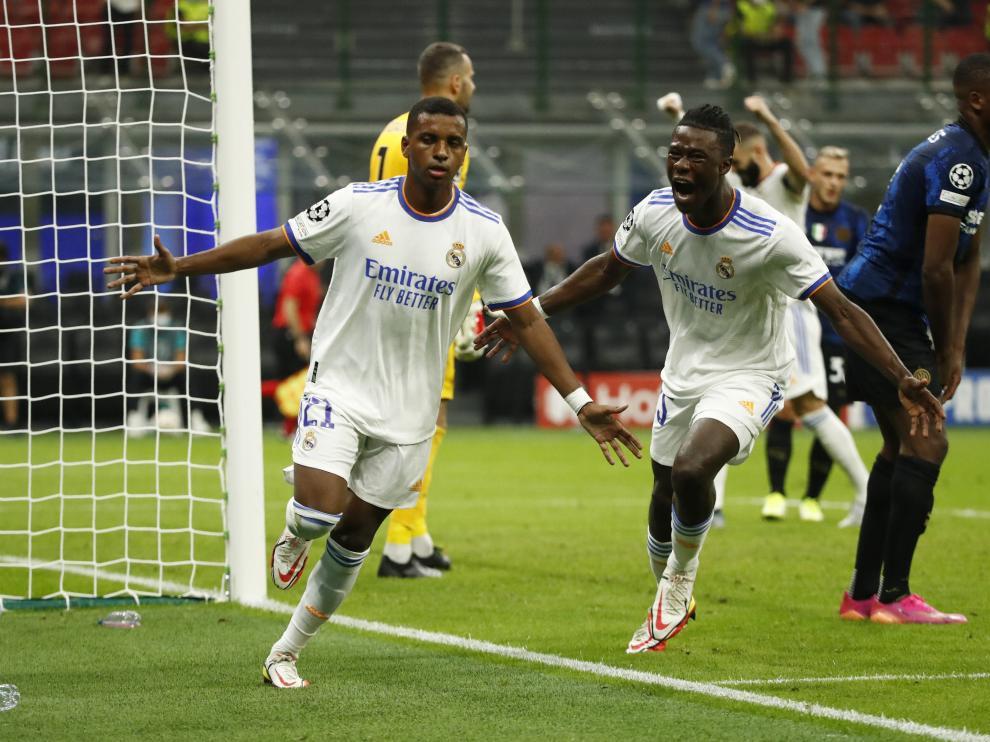 Real Madrid se roba un triunfo de último minuto ante Inter de Milán