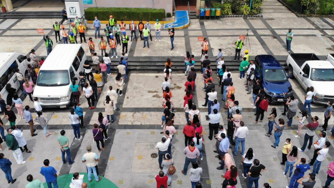Personal del IMSS Veracruz Norte participa en el Simulacro Nacional 2021