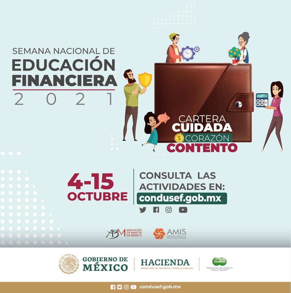 Invita Condusef a la Semana Nacional de Educación Financiera 2021