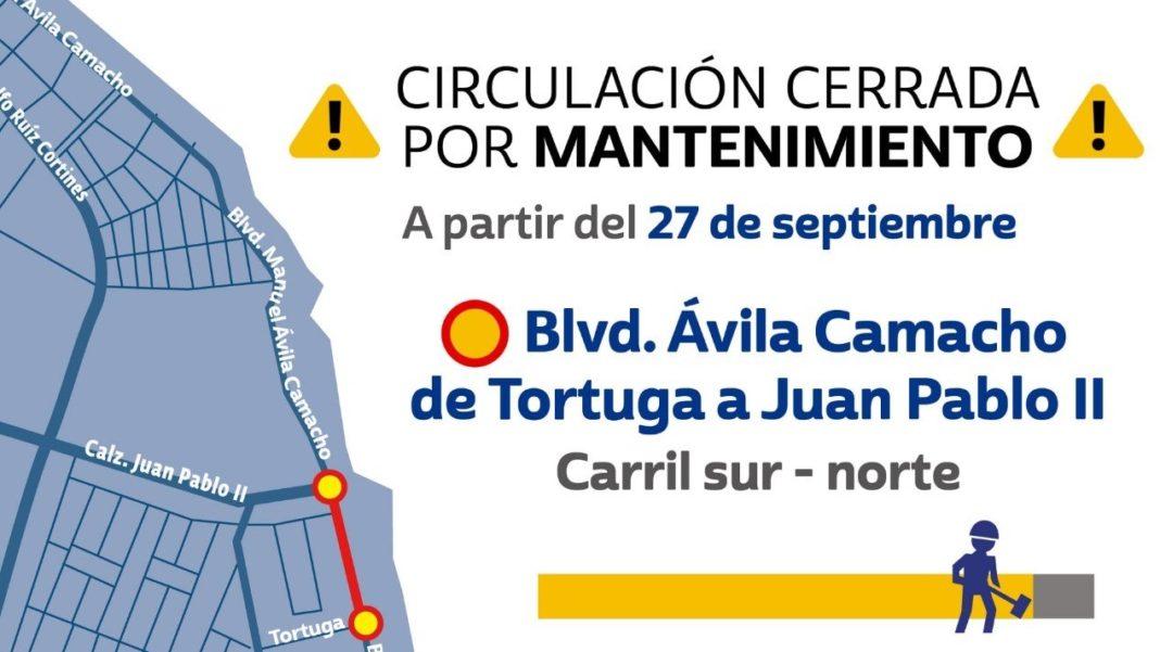 Anuncian cierre vial en Boca del Río del 27 de septiembre al 4 de octubre