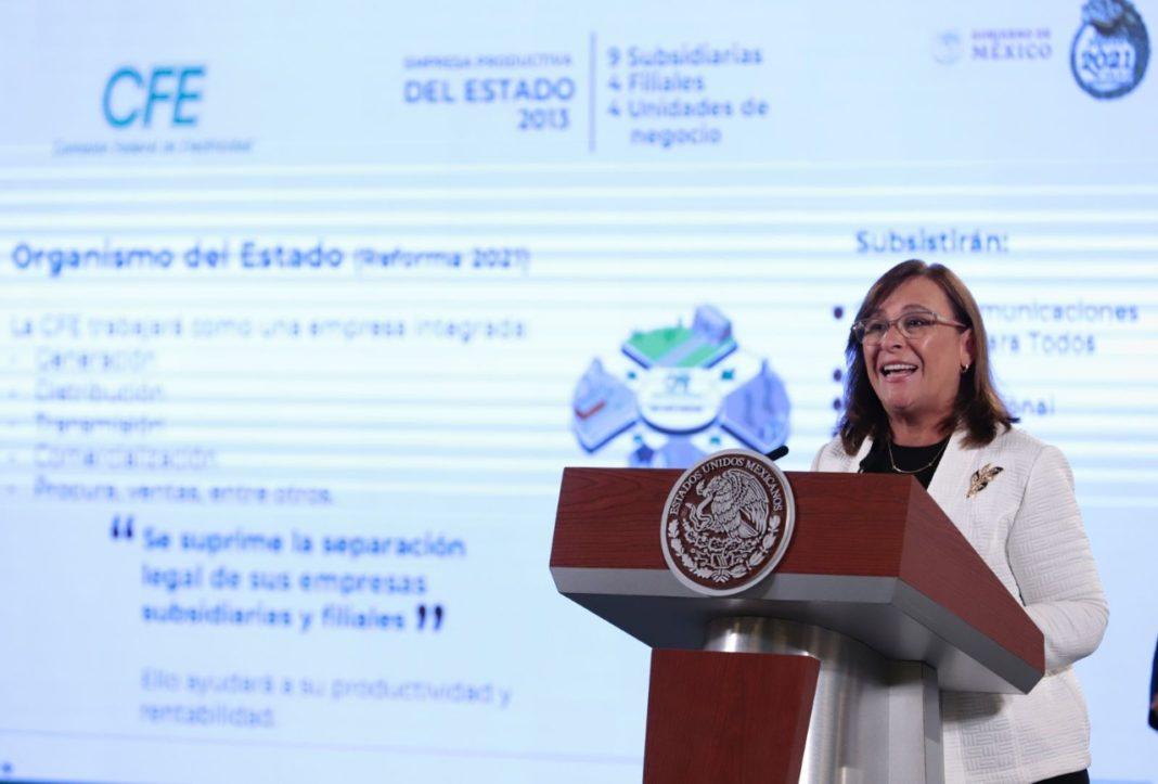 """Rocío Nahle: """"Reforma eléctrica no nacionalizará nada"""""""