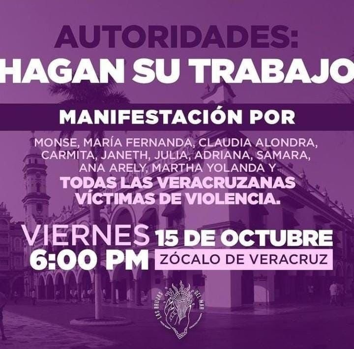 Brujas del Mar invita a manifestación en el Zócalo por víctimas de violencia